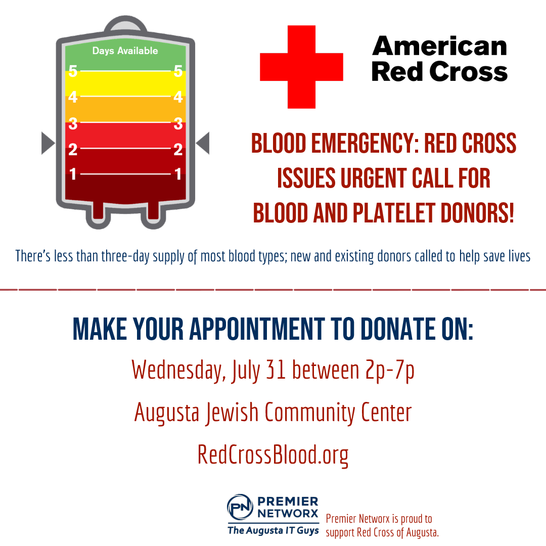 red cross donate july 31