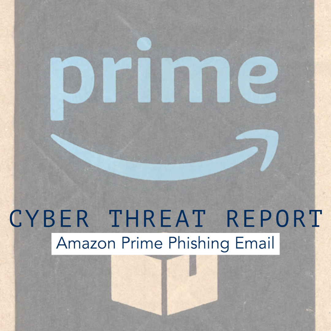 Be Aware of this Amazon Prime Phishing Email